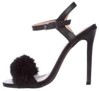 Jaggar Mink Ankle Strap Sandals