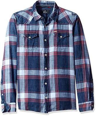 Buffalo David Bitton Men's Sakyro Long Sleeve Plaid Woven Shirt