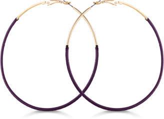 GUESS Thread-Wrapped Hoop Earrings
