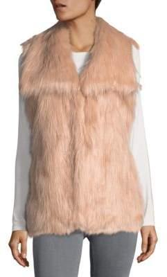 Via Spiga V-Neck Faux Fur Vest