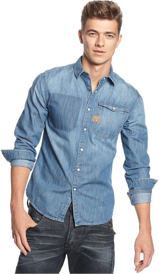G Star G-Star Shirt, Vintage Hunter Denim