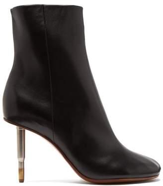 Vetements Killer Bullet Heel Leather Ankle Boots - Womens - Black