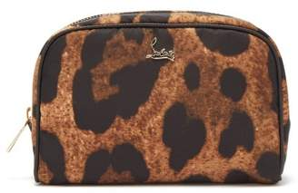 Christian Louboutin Leopard Print Cosmetics Case - Womens - Leopard