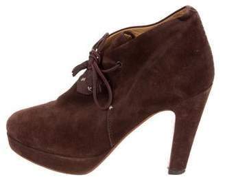 Rag & Bone Suede Round-Toe Booties