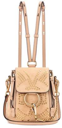 Chloé Faye Mini studded suede backpack