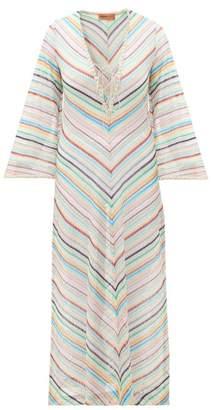 378b9a8d1aec8a Missoni Mare - Stripe Lace Trim Knitted Kaftan - Womens - Multi