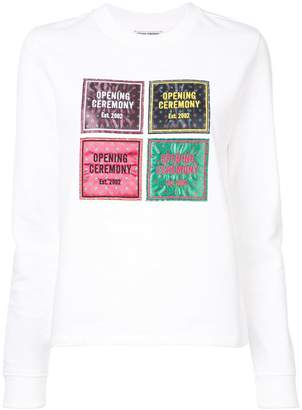 Opening Ceremony Medallion patchwork sweater