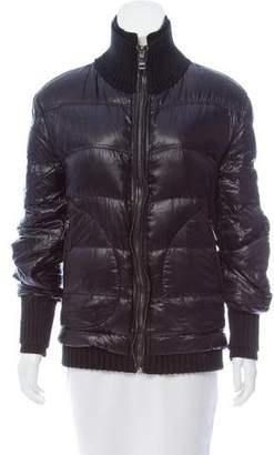 Dolce & Gabbana Rib Knit Trimmed Puffer Jacket