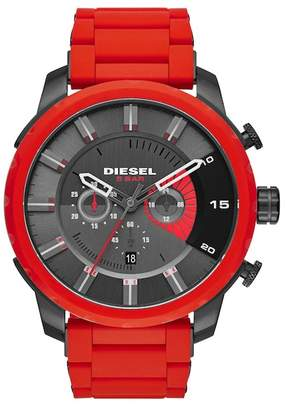Diesel Men's Stronghold Chronograph Silicone Strap Watch, 51mm