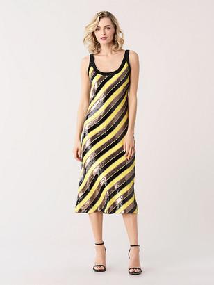 e6e7d5a1 Diane von Furstenberg Luisa Sequined Midi Dress