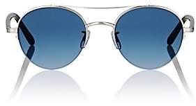Garrett Leight Men's Manchester Sunglasses-Silver