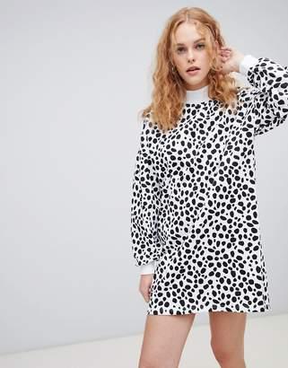 Lazy Oaf spotty zip sweater dress