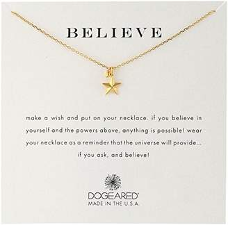 Dogeared Believe' Nautical Star Charm Bead Plated Sterling Silver Chain Necklace