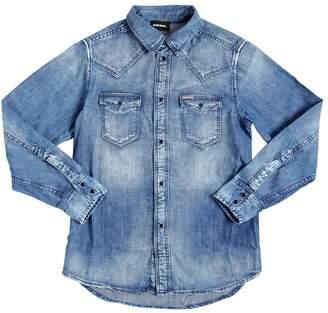 Diesel Stretch Cotton Denim Shirt
