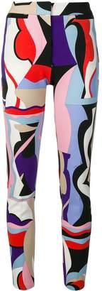 Emilio Pucci Vallauris Print Skinny Trousers