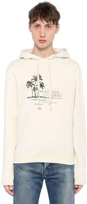 Saint Laurent Waiting For Sunset Hooded Sweatshirt