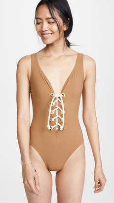 Karla Colletto Colette V Neck One PIece