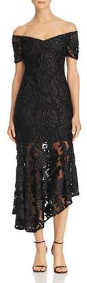 Alice McCall Fleur Off-the-Shoulder Lace Dress