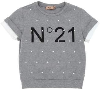 N°21 Embellished Light Cotton Sweatshirt
