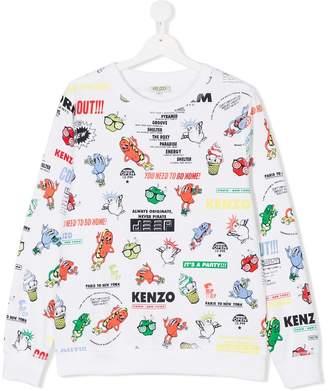 Kenzo Teen Food Fiesta print sweatshirt