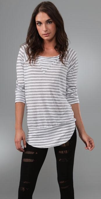 Nightcap Clothing Striped Sweatshirt Tee