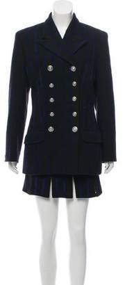 Versace Vintage Wool Skirt Set