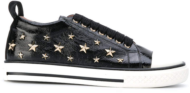 RED Valentino star studded lace-up sneakers