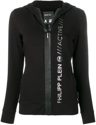 b24f855a Philipp Plein fitted logo embossed hoodie