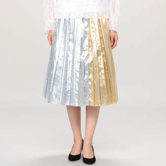 Muveil (ミュベール) - MUVEIL メタルプリーツスカート