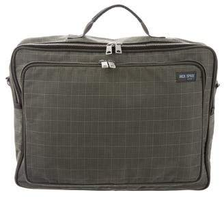Jack Spade Plaid Canvas Briefcase