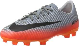 Nike Jr. Mercurial Vapor XI CR FG Soccer Cleats (Sz. 2.5) Cool Grey, Metallic Hematite