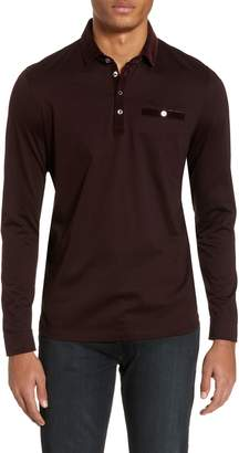 Ted Baker Nervy Slim Fit Velvet Collar Polo