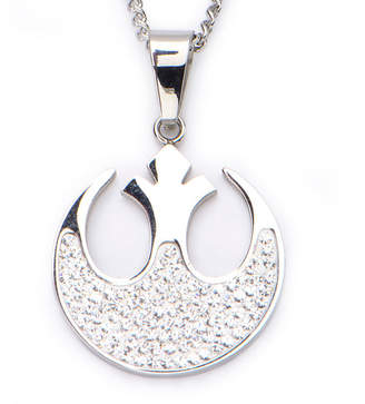Star Wars FINE JEWELRY Stainless Steel Alliance Symbol Cutout Pendant Necklace