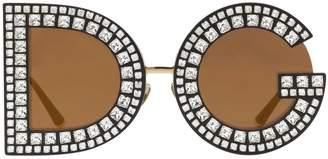 Dolce & Gabbana Crystals Embellished Sunglasses