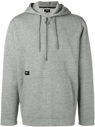 Edwin zipped neck hoodie