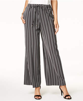 Tommy Hilfiger Striped Wide Leg Pants, Created for Macy's