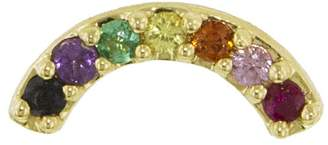 Andrea Fohrman Multi-Sapphire Rainbow Single Stud Earring - Yellow Gold
