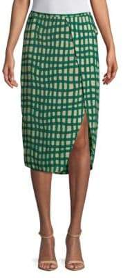 Plenty by Tracy Reese Printed Surplice Skirt