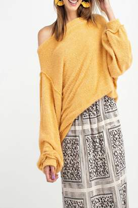 Easel Off-Shoulder Sweater Tunic