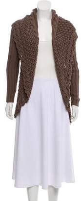 Cotton by Cashmere Woven Knit Cardigan