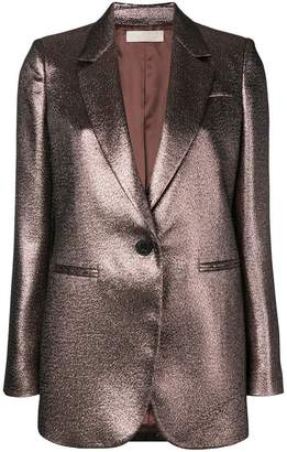 Mantu metallic single breasted blazer