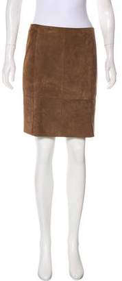 Akris Suede Mini Skirt w/ Tags