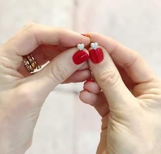 Claudette Worters Diamond Earrings Tiny Heart Studs