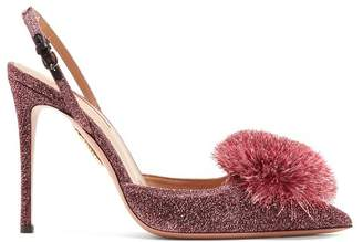 Aquazzura Powder Puff 105 Slingback Pumps - Womens - Pink