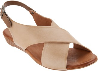 Miz Mooz Leather Cross Strap Sandals - Anya