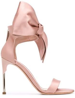Alexander McQueen pin heel Bow sandals