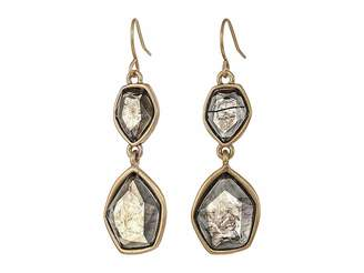 The Sak Stone Double Drop Earrings