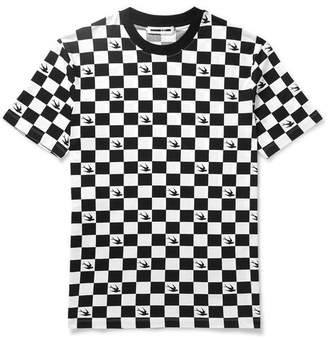 McQ Checkerboard Cotton-Jersey T-Shirt