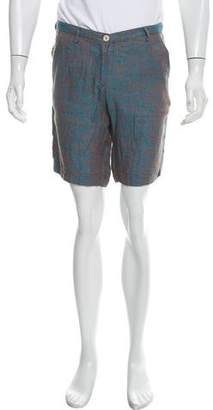 Massimo Alba Patterned Linen Shorts w/ Tags