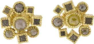 Todd Reed Cube Cluster Stud Earrings